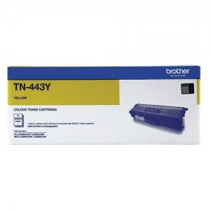 Genuine Brother TN-443Y Yellow Toner Cartridge - 4,000 pages